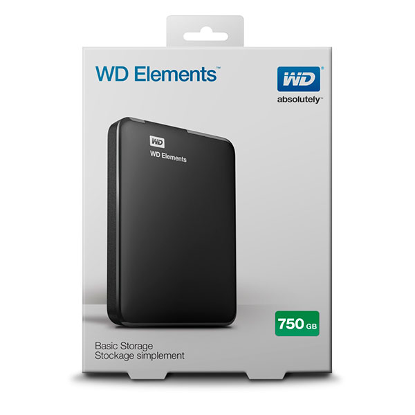 WD Elements Portable 2.5″ 750GB USB – Disco Duro Externo