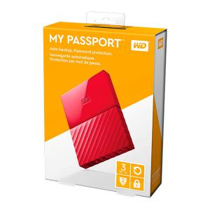 WD My Passport 3TB 2.5″ rojo USB 3.0 – Disco Duro USB