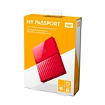 WD My Passport 4TB 2.5″ rojo USB 3.0 – Disco Duro USB