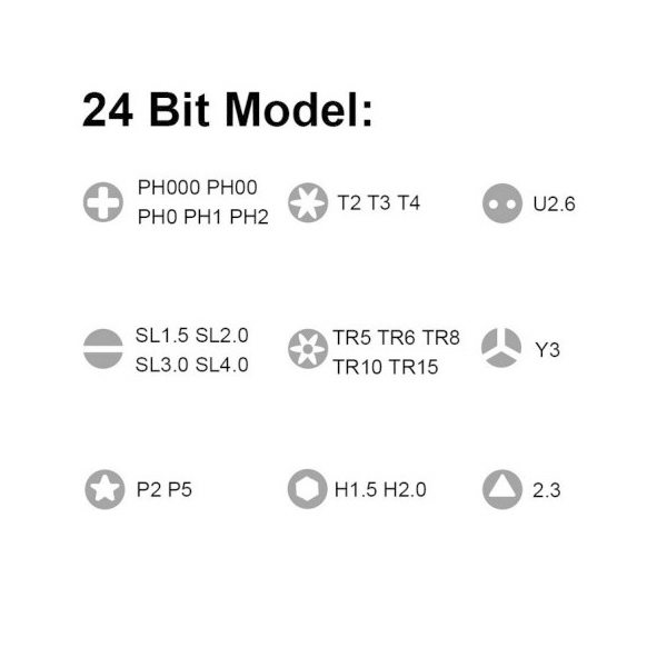 Xiaomi Kit de Precisión Mi X 24 cabezales - Destornillador